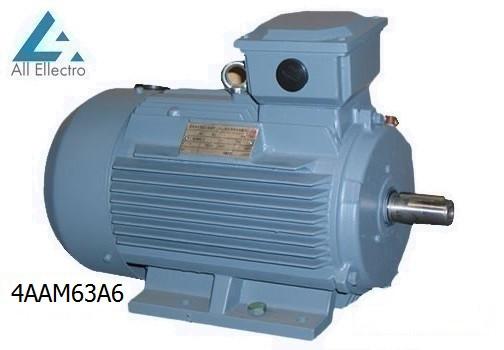 Электродвигатель 4ААМ63А6 0,18 кВт 1000 об/мин, 380/660В