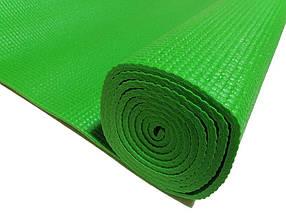 Профессиональный коврик для йоги, фитнеса и аэробики 1730×610×4мм, цвет зеленый, фото 3