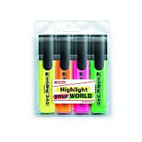 Набор маркеров Edding Highlighter 2-5 мм 4 шт ассорти