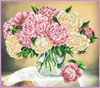 Набір для вишивки бісером Квіти у вазі