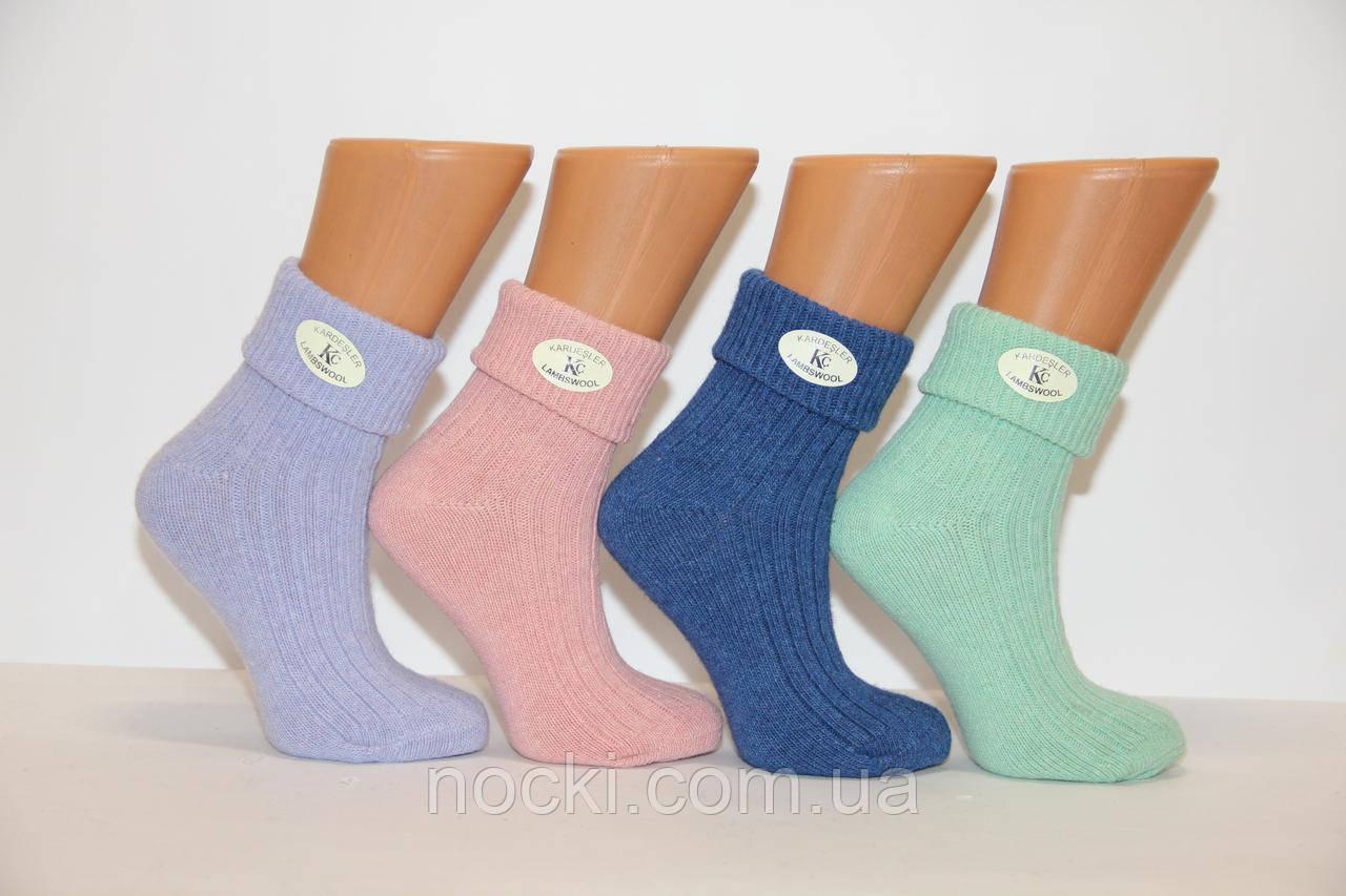 Женские носки шерстяные с отворотом Кардешлер