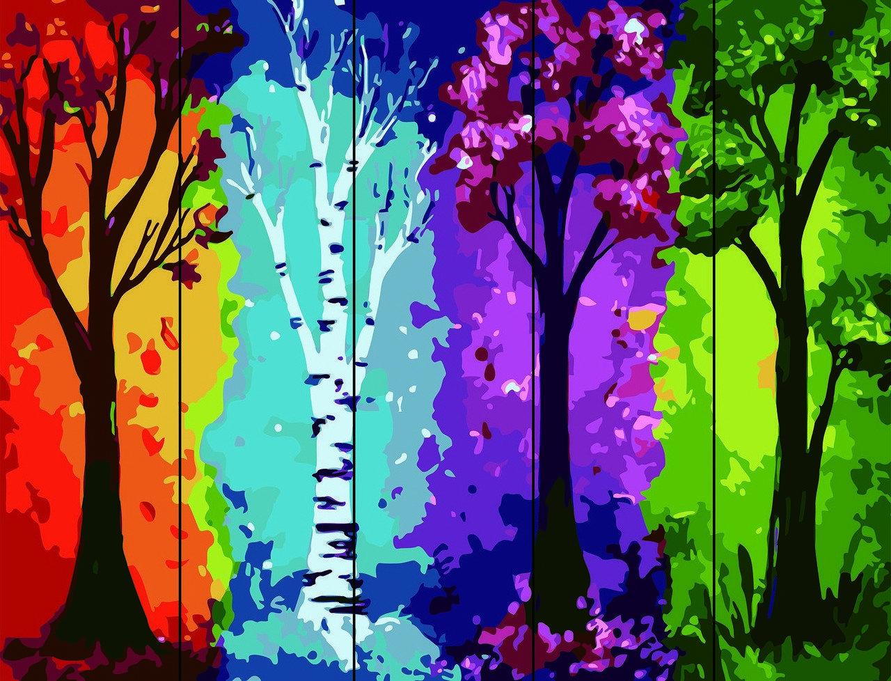 Рисование по номерам по дереву Времена года Rainbow Art RA-AS0109 40 х 50 см