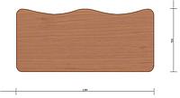 Антисколиозная столешница для парты 1200х550 мм