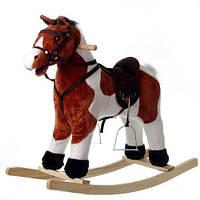 Детская лошадка качалка музыкальная