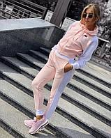 Спортивный костюм  женский Nike (реплика) (Мод 802) В розовом и синем цвете, фото 1