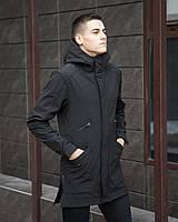 """Парка-куртка мужская не промокаемая демисезонная """"Джапан"""" черная"""