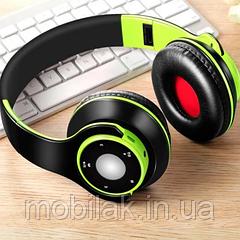 NDJU Беспроводной Bluetooth басовые наушники Green