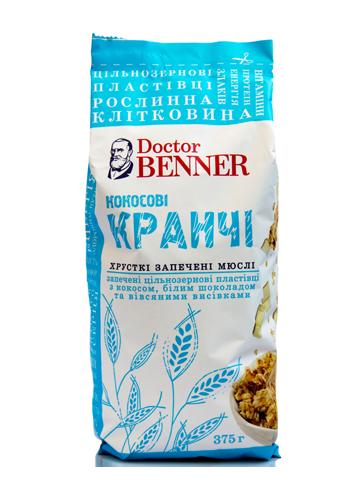 """Кранчи кокосовые 375г """"Dr.Benner"""""""