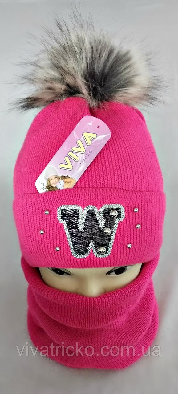 М 5012 Комплект для дівчинки: шапка+баф ( 3 - 12 років)