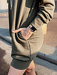 """Женское худи/толстовка """"кенгуру"""" с карманами удлиненная (в расцветках), фото 9"""