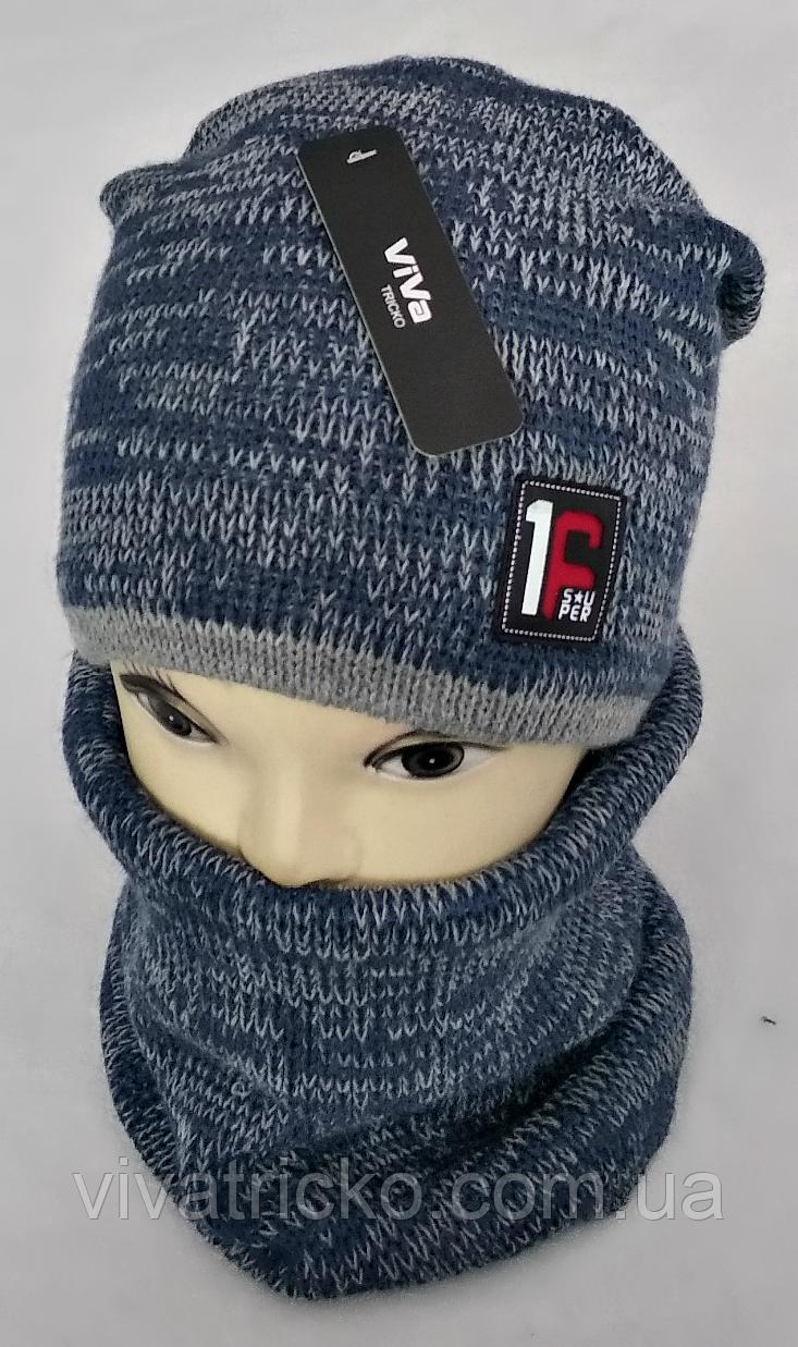 М 5013 Комплект для хлопчика: шапка+хомут