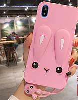 Чехол Funny-Bunny 3D для Xiaomi Redmi 7A бампер резиновый Розовый