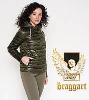 Braggart 24992 Женский весенне-осенний воздуховик темный хаки   Angel's Fluff