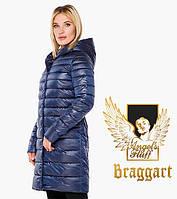 Braggart 18225 Воздуховик осень-весна женский длинный сапфировый   Angel's Fluff