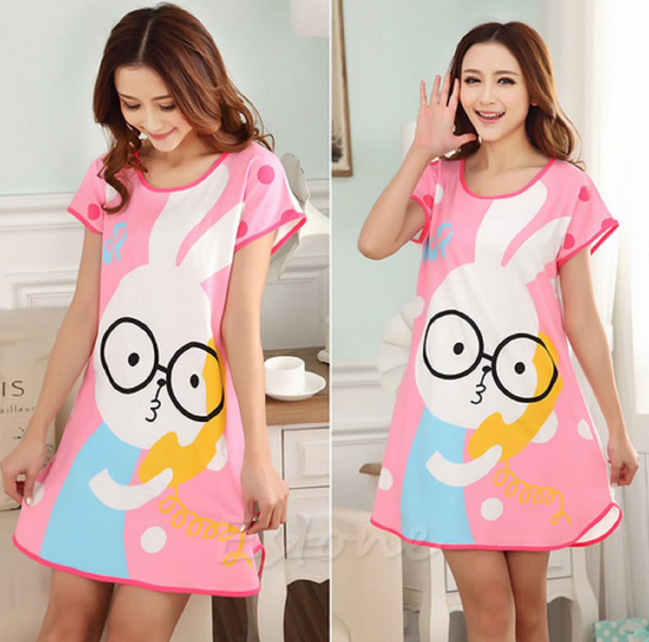 Домашнее платье с принтом ANNA  (48 размер )