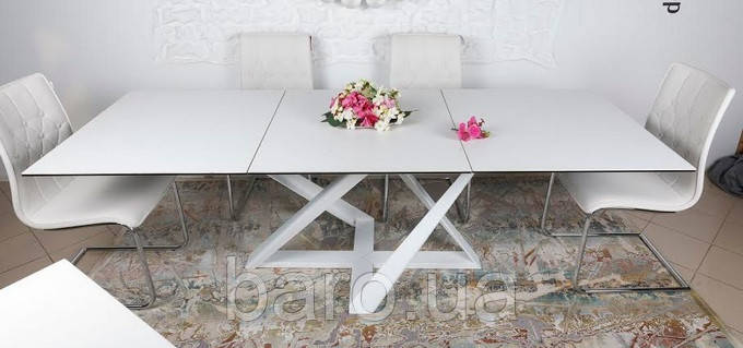 Стол Fleetwood New (Флитвуд Нью) керамика белый глянец (Бесплатная доставка), Nicolas