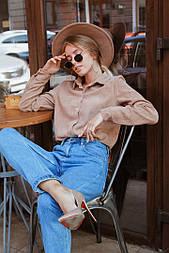 Женская вельветовая рубашка (в расцветках)