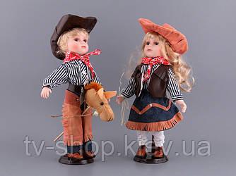 Набір фарфорових ляльок Ковбої (41 см)