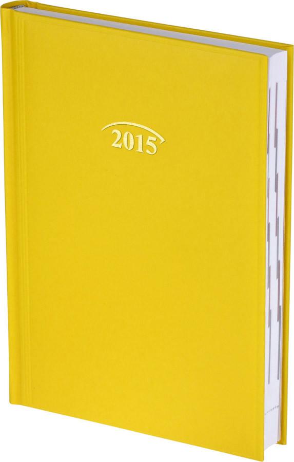 Ежедневник Стандарт Miradur 2015 желтый 14,5 х 20,6 см (А5) 73-795