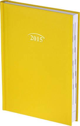 Ежедневник Стандарт Miradur 2015 желтый 14,5 х 20,6 см (А5) 73-795, фото 2