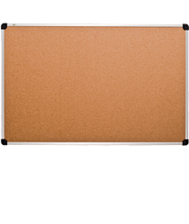 Доска пробковая, алюминиевая рамка, 60х90