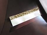 Паше (нагрудный платок в карман пиджака) светло-золотой нарядный, фото 2