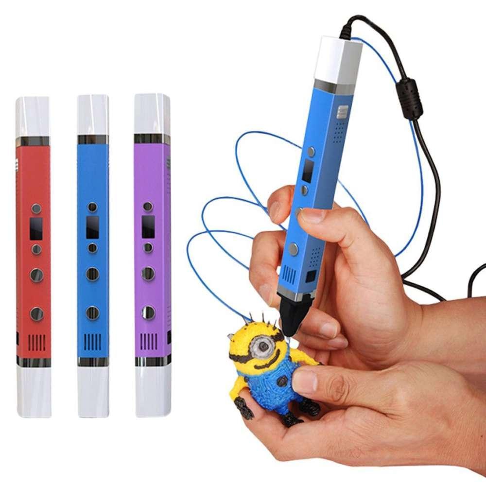 Беспроводная 3D ручка 3-го поколения MyRiwell RP-100С 4 цвета + трафареты