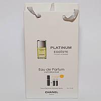 Мини парфюмерия Chanel Egoiste Platinum в подарочной упаковке 3х15 ml  DIZ