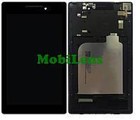 Lenovo A7-10, Tab 2, A7-20F Дисплей+тачскрин(модуль) черный в рамке