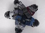 М 5017 Комплект для хлопчика: шапка+манішка, акрил, фліс, різні кольори, фото 2