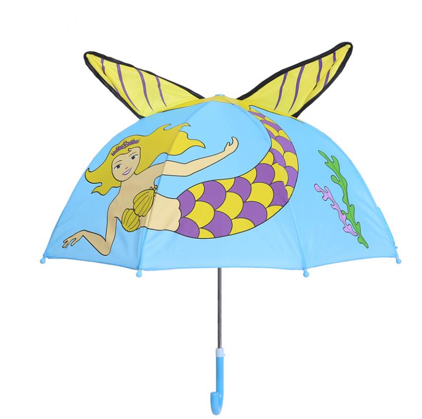 "Детский зонтик 3D ушки "" Русалка"""