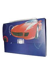 Портфель-коробка с цветным рисунком  А4 «Авто» 550 мкн, 5604, CLASS