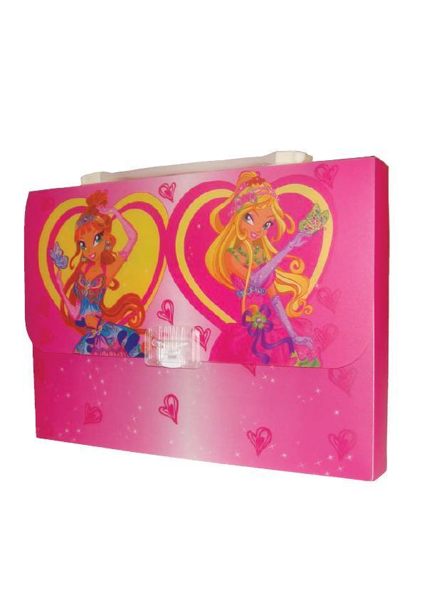 Портфель-коробка с цветным рисунком  А4 «Fairy Club 2″, 550 мкн, 5601, CLASS