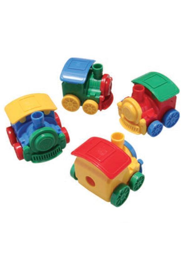 Точилка-игрушка с конт.+ 3S Techno,»Минипаровозик»,46*46*40мм,4823,CLASS