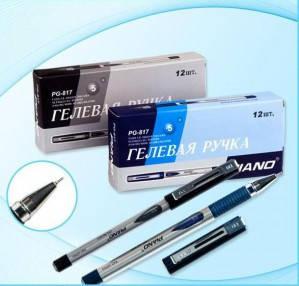 Ручка гелевая Piano 817 синяя, фото 2