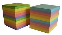 Бумага для заметок 9*9 900л некл цветная