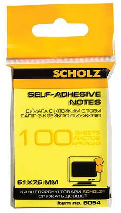 Бумага клейкая 51х76мм 100л цв в ас 8054 Scholz, фото 2