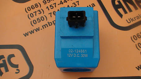 25/221054, 477/00824, 02-124661 Электромагнитный клапан (соленоид) на JCB 3CX, 4CX, фото 2