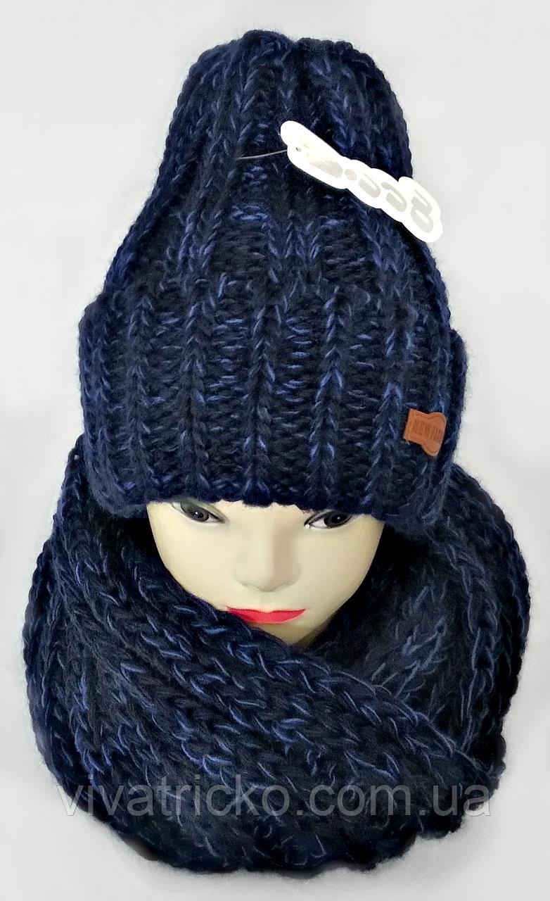 Комплект жіночий-підлітковий шапка+хомут, розмір вільний