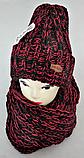 Комплект жіночий-підлітковий шапка+хомут, розмір вільний, фото 3