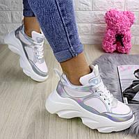 Женские белые кроссовки на платформе Cosmos 1232