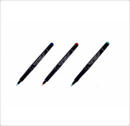 Маркер перман 0,6мм черный спирт осн OHP-Permanent 2636 Centropen, фото 2