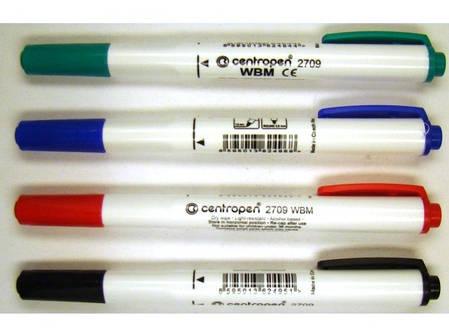 Маркер для доски 1-2мм зеленый кругл остр 2709 Centropen, фото 2