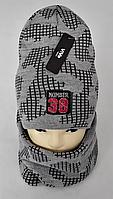 М 5023 Комплект для хлопчика-підлітка: шапка+баф ( 3 - 15 років), акрил, фліс, різні кольори, фото 1