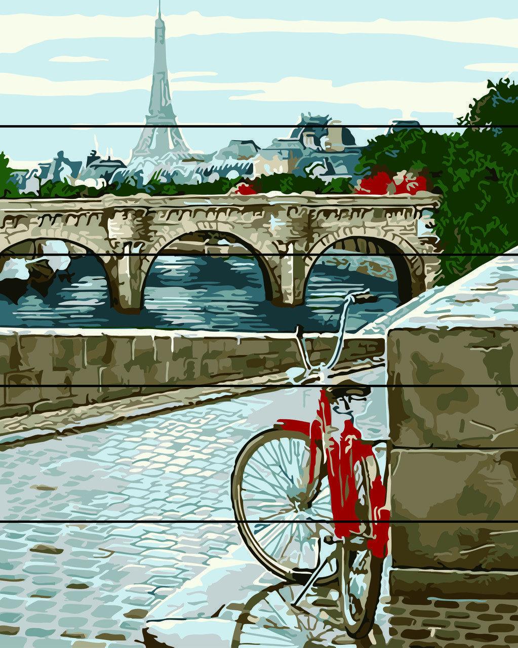 Живопись по номерам по дереву Парижская мостовая Rainbow Art RA-AS0039 40 х 50 см