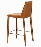 Полубарный стул MARCO светло-коричневый кожа (бесплатная доставка), фото 4