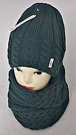 Комплект жіночий-підлітковий :шапка+баф, марс, фліс, розмір вільний