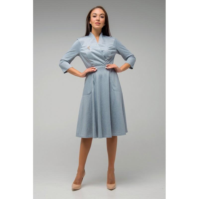 Красивое платье Венера светло-серый(44-52)