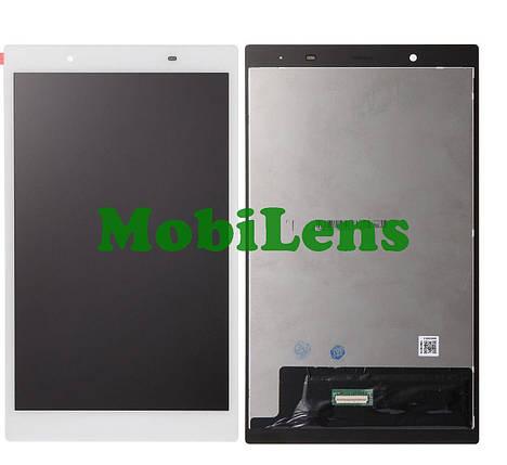 """Lenovo TB-8504, (зеленый коннектор), TB-8504F, TB-8504X, Tab 4 8"""" Дисплей+тачскрин(модуль) белый, фото 2"""