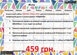 Набор №2 для изготовления маркерно-грифельной доски+аксессуары+в ПОДАРОК маркеры с мочалкой